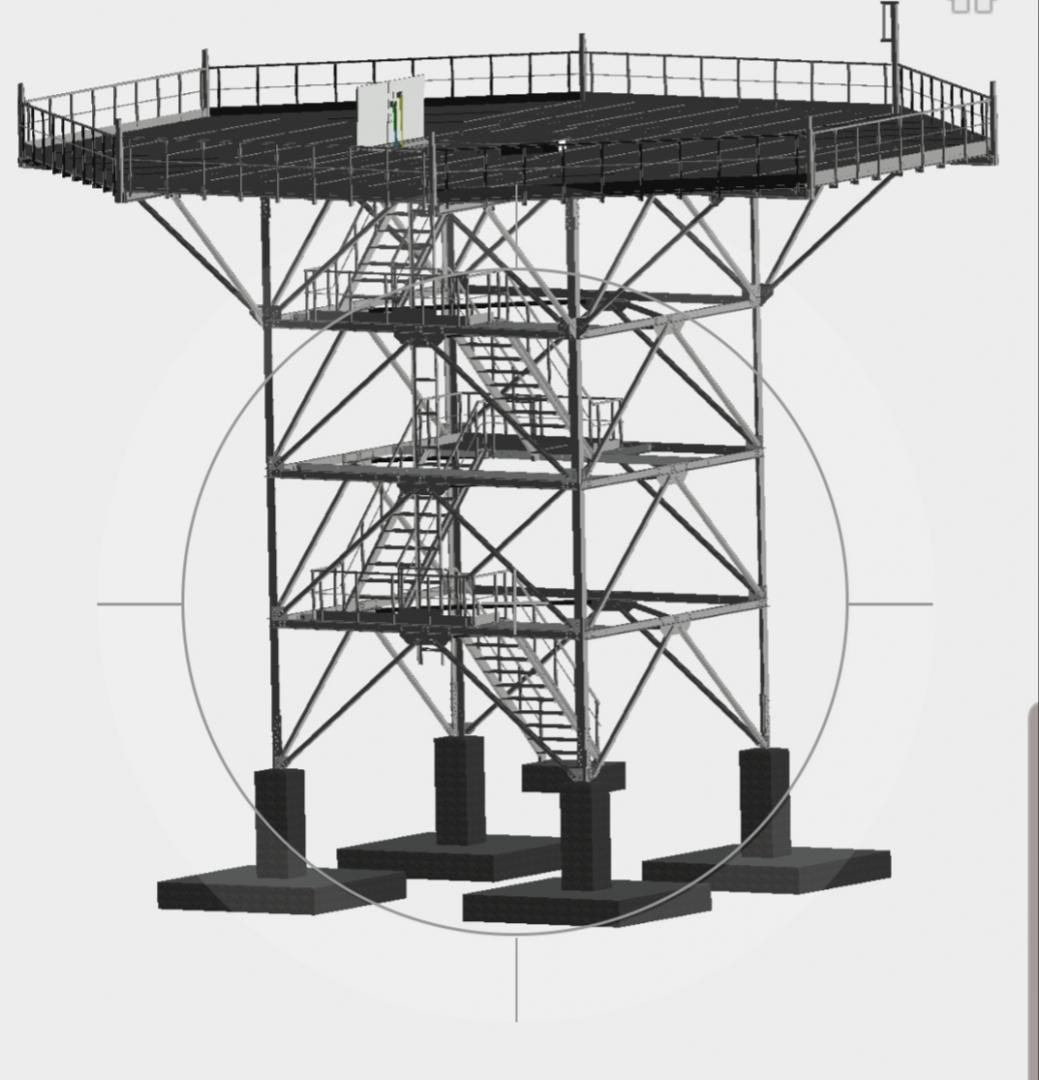 Torre radar desmontable